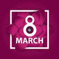 Poster International Happy Women Day 8 March Floral Greeting