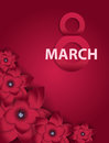 Poster International Happy Women s Day 8 March Floral Greeting c