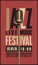 Poster for a jazz festival live music with mic