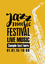 Poster for jazz festival with a saxophone