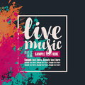 Poster live music with colorful abstract spots