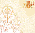 Poster with Lord Ganesha, can be used as card for celebration Ganesh Chaturthi