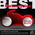 Poster about motorcycles or billboard race so moto shop premium design for announcement Royalty Free Stock Image