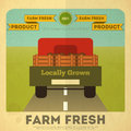 Poster for Organic Farm Food Royalty Free Stock Images