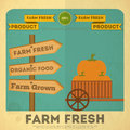 Poster for Organic Farm Food Royalty Free Stock Photo