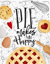 Poster pie Royalty Free Stock Photo