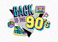 Poster in 80s-90s memphis style. Royalty Free Stock Photo