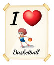 A poster showing the love of basketball Royalty Free Stock Photo