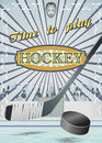 Poster time to play hockey this illustration has vector editable dublicate Stock Photography