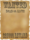 Poster Wanted dead or alive. Royalty Free Stock Photography
