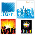 Posters of dancing girls and boys Royalty Free Stock Photo
