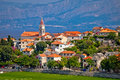 Postira on Brac island skyline view Royalty Free Stock Photo