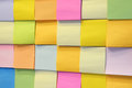 Postit many put on the board multi color Royalty Free Stock Images