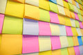 Postit many put on the board multi color Stock Image