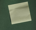 Postit over green with copy space Royalty Free Stock Photo