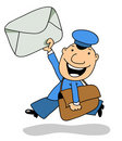 The postman Royalty Free Stock Photos