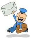 The postman Royalty Free Stock Photo