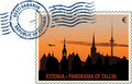 Postmark from Estonia Royalty Free Stock Photo
