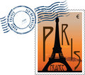 Postmark from france Royalty Free Stock Images