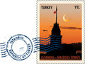 Postmark from Istanbul Stock Photography
