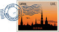 Postmark from Latvia Stock Image