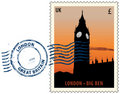 Postmark from London Stock Image