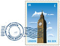 Postmark from London Royalty Free Stock Photo