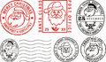 Postmarks - merry christmas Royalty Free Stock Photo