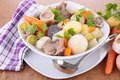 Pot au feu bowl of Royalty Free Stock Photos