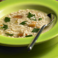 Pot barley soup Royalty Free Stock Photo