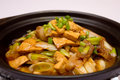 Pot bean curd dinner Stock Images