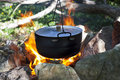 Pot on the fire Royalty Free Stock Photo
