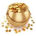 Pot of gold coins