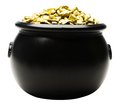 Pot of gold nuggets Royalty Free Stock Photo