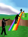 Pot of Gold Rainbow Stock Images