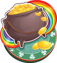 Pot of gold on Saint Patricks Day. Stock Images