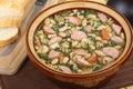 Pot of Kielbasa Soup Royalty Free Stock Photo