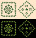 Pot Leaf Borders & Icons Stock Images