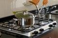 Pot over kitchen Royalty Free Stock Photo