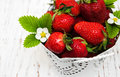 Pot with strawberries Royalty Free Stock Photo