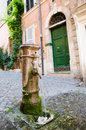 Potable fountain water in Rome Royalty Free Stock Photo