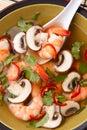 Potage Chaud-Et-Aigre de crevette rose Image libre de droits