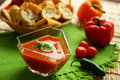 Potage de tomate Photographie stock