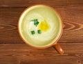 Potage parmentier french leek and potato soup Royalty Free Stock Image