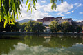 Potala palace and its reflection Stock Images