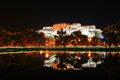 Potala palace and its reflection Stock Photo