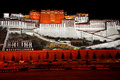 The potala palace is located in lhasa tibet autonomous region china it is named after mount potalaka the mythical abode of Royalty Free Stock Photography