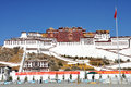 Potala palace located lhasa tibet autonomous region china named mount potalaka mythical abode chenresig avalokitesvara Stock Photos