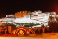 Potala Palace at night Stock Photography