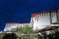 The potala palace night scene of in lhasa tibet china Stock Image
